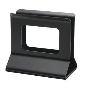 メニューブックスタンド 110xH103x68xミゾ巾20mm SE-10N スチール 黒 メニューブック立て シンビ