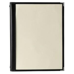 クリアメニューブック A4・4ページ+2ページ 金属・4穴 バインダータイプ LBC-201 バインダー式クリア テーピングメニュー えいむ