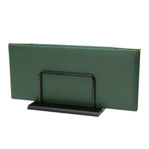 メニューブックスタンド 150xH75x75xミゾ巾20mm アクリル・スチール OSE-1B シンビ