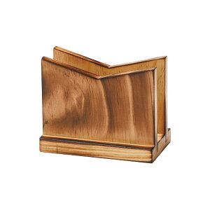 木製メニューブック立て(焼木) W120xH95xD65(ミゾ巾25)mm BS-8B えいむ(Aim)