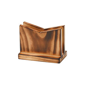 木製メニューブック立て(焼木) W120xH95xD63(ミゾ巾15)mm BS-9B えいむ(Aim)