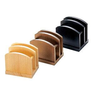 木製ナフキン&ブック立て W114xH114xD90(ミゾ巾18)mm メニューブックスタンド NT-23 えいむ(Aim)