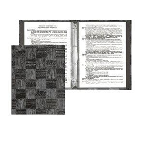 インフォメーションブック A4・8ページ・4穴バインダー LS-1000 和風メニューブック シンビ(SHIMBI) ホテル旅館客室案内用品