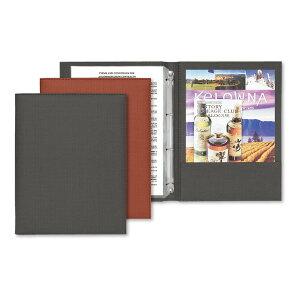 インフォメーションブック A4・8ページ・片面サイドポケット・4穴バインダー インフォメーション-HB シンビ(SHIMBI) ホテル旅館客室案内用品