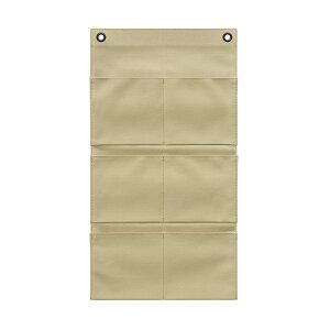 キャンバス・ポストカード (6P) ベージュ S-500 ウォールポケット サキ(SAKI COLLECTION) 4990630500147【大判レターフォルダー・壁掛けポケット・サキ壁掛け収納】