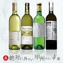 日本ワイン 送料無料 ワインセット[ 絶対に外さない甲州ワイン 4本 ]白ワイン セット 辛口 国産 ワイン