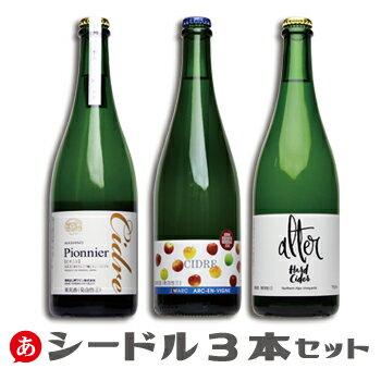 【ワインセット 送料無料】林檎のスパークリング シードル 3本セット シードル 日本ワイン ワイン セット 国産 スパークリングワイン