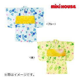 7%OFF //ミキハウス正規販売店/ミキハウス mikihouse クローバー柄浴衣(女児用)〈100cm(80cm-100cm)〉