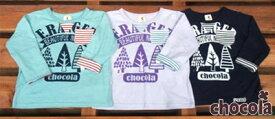 ショコラ(chocola) 袖ボーダー ロールアップ! 長袖Tシャツ ロンT(80cm・90cm・95cm・100cm・110cm・120cm・130cm)