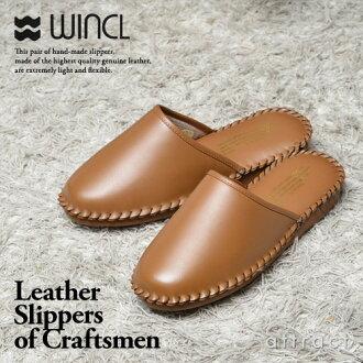WINCL uinkuru Leather Slippers rezasurippasutea皮革书皮革拖鞋彩色:供供全5色3尺寸房鞋室内的拖鞋考试说明会面试室内装饰使用自己的家的来客使用