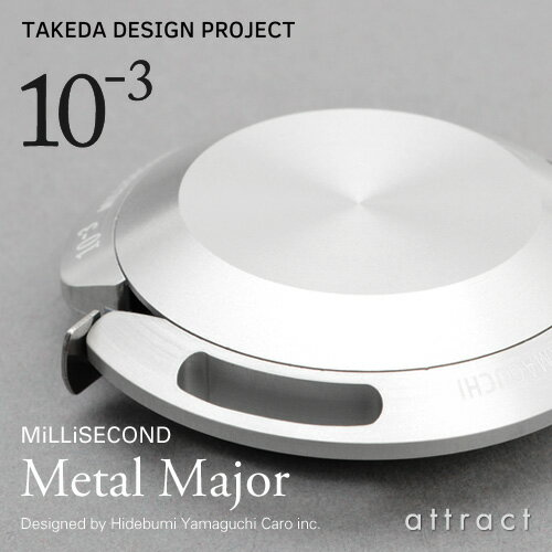 ミリセカンド MiLLiSECOND メタルメジャー Metal Major スチール 2.0m JIS規格 MS01 カラー:2色 デザイン:山口 英文 日本製 アルミニウム 計測 抗菌 アクセサリー 【RCP】
