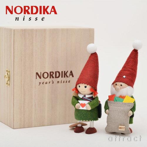 【2017年限定】 NORDIKA ノルディカ デザイン NORDIKA nisse ノルディカ ニッセ イヤーズ ノルディカセット 2017 ペア 2個セット 木製ギフトボックス付属 ニッセ人形 北欧 デンマーク 守り神 クリスマス サンタクロース サンタ 妖精