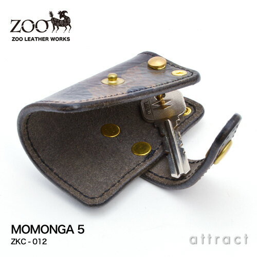 ズー ZOO モモンガ キーケース 5 MOMONGA KEYCASE 5 ZKC-012 カラー:全2色 ラ・ペルラ・アッズーラ社製 バキュエロレザー イタリア カモフラ 迷彩 【RCP】