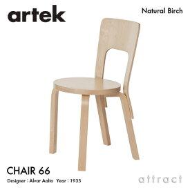 アルテック Artek CHAIR 66 チェア 66 バーチ材 椅子 ダイニング デザイン:Alvar Aalto 座面 バーチ 脚部 クリアラッカー仕上げ フィンランド 北欧 【RCP】 【smtb-KD】