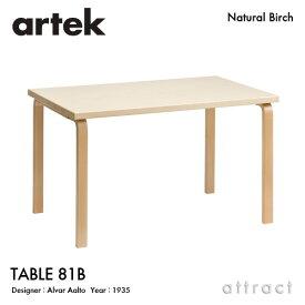 アルテック Artek TABLE 81B テーブル 81B サイズ:120×75cm 厚み 4cm バーチ材 デザイン:Alvar Aalto 天板 バーチ 脚部 クリアラッカー仕上げ ダイニング デスク フィンランド 北欧 【RCP】 【smtb-KD】