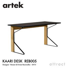 アルテック Artek KAARI DESK REB005 カアリデスク サイズ:150×65cm 厚み2.4cm 天板 ブラックリノリウム 脚部 ナチュラルオーク デザイン:ロナン&エルワン・ブルレック ダイニングテーブル