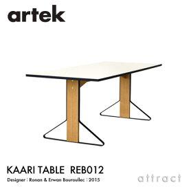 アルテック Artek KAARI TABLE REB012 カアリテーブル サイズ:160×80cm 厚み2.4cm 天板 ホワイトグロッシー HPL 脚部 ナチュラルオーク デザイン:ロナン&エルワン・ブルレック ダイニングテーブル