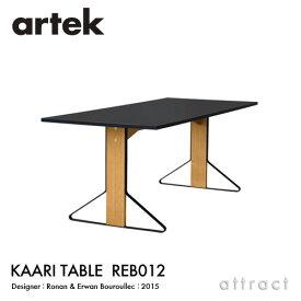 アルテック Artek KAARI TABLE REB012 カアリテーブル サイズ:160×80cm 厚み2.4cm 天板 ブラックリノリウム 脚部 ナチュラルオーク デザイン:ロナン&エルワン・ブルレック ダイニングテーブル