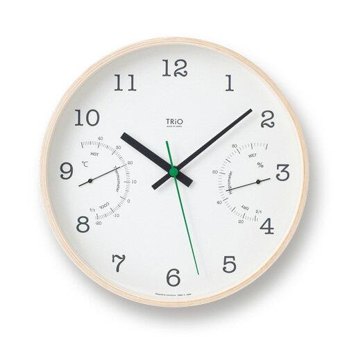 レムノス Lemnos タカタ トリオ TRiO 壁掛け時計 ウォールクロック PC10-22 カラー:4色 スイープムーブメント 温湿度計付 【RCP】 【楽ギフ_包装】 【楽ギフ_のし宛書】 【HLS_DU】