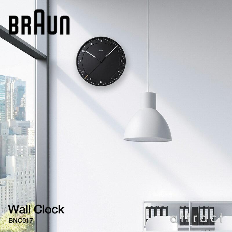 ブラウン BRAUN ウォールクロック Wall Clock サイズ:Φ30cm スウィーブムーブメント カラー:ブラック、ホワイト BNC017 デザイン:デートリッヒ・ルブス 大型 壁掛け時計 掛時計 時計 インテリア デザイン ドイツ【RCP】 【smtb-KD】