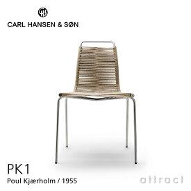 カールハンセン & サン Carl Hansen & Son PK1 チェア ポール・ケアホルム Poul Kjærholm ステンレスフレーム フラッグハリヤード:2色 スタッキング可能 ダイニングチェア オリジナル 【RCP】【smtb-KD】