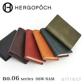 エルゴポック HERGOPOCH Waxed Leather ワキシングレザー 06W-NAM Card Case カードケース 名刺入れ カラー:7色 名刺入れ 革小物 ビジネス カジュアル 【RCP】
