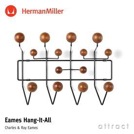 ハーマンミラー Herman Miller イームズ ハングイット オール Eames Hang-It-All ウォールナット ブラック デザイン:Charles & Ray Eames チャールズ&レイ・イームズ ウォールハンガー コートハンガー フック 壁面 収納 【RCP】【smtb-KD】