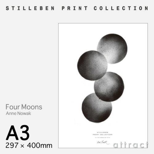 スティルレーベン STILLEBEN ポスター 297×420mm A3サイズ Poster フォー ムーンズ Four Moons デザイン:Anne Nowak ポスター 壁面 アート フォト プリント インテリア シンプル デザイン 【RCP】