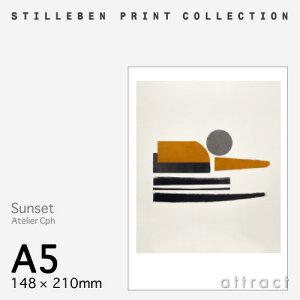 スティルレーベンSTILLEBENポスター148×210mmA5サイズPosterサンセットSunsetデザイン:AtelierCphポスター壁面アートフォトプリントインテリアシンプルデザイン【RCP】