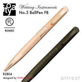 伊東屋 ITO-YA 銀座 伊東屋 イトーヤ ROMEO ロメオ R2B ファインブラッシュ No.3 Ballpoint Pen ボールペン Φ11mm 細軸 カラー:2色 回転繰り出し式 真鍮 メッキ 文房具 文具 筆記用具