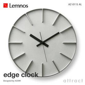 レムノス Lemnos タカタ edge clock エッジクロック AZ-0115 Lサイズ Φ350mm カラー:アルミニウム スイープムーブメント デザイン:AZUMI 壁掛け時計 ウォールクロック 贈り物 ギフト 【RCP】【smtb-KD】