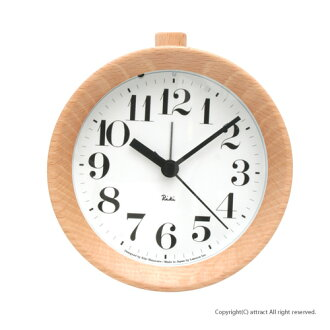 Lemnos/レムノス Riki AlarmClock/뿌르 알람시계 자명종 탁상 시계 굵게 WR-0915 시계의 테이블 시계 색상: 내츄럴 디자인: 와타나베 힘 (인테리어/디자인/잡화/선물/선물)