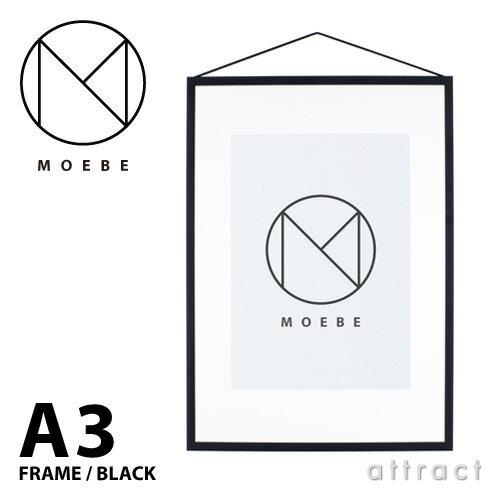ムーベ MOEBE フレーム A3 サイズ FRAME アルミニウム Black ブラック FABA3 壁掛け ポスター 壁面 額縁 アート フォト アクリル ギフト プレゼント 透明 クリア シンプル デザイン 【RCP】