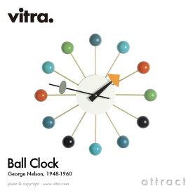ヴィトラ Vitra Ball Clock ボールクロック Wall Clock ウォールクロック 掛け時計 デザイン:George Nelson ジョージ・ネルソン カラー:マルチカラー スイス デザイナー パントン イームズ イサム ノグチ 【RCP】【smtb-KD】