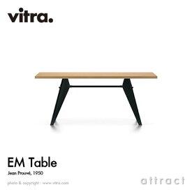 ヴィトラ Vitra イーエムテーブル EM Table デザイン:Jean Prouve ジャン・プルーヴェ サイズ:180cm 天板:ナチュラルオーク オイル仕上げ ベースカラー:ディープブラック ダイニングテーブル 家具 インテリア デザイナー イームズ 【RCP】