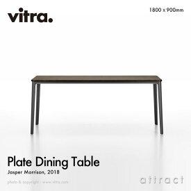 ヴィトラ Vitra プレート ダイニングテーブル Plate Dining Table サイズ:180cm スモークドオーク × チョコレート デザイン:Jasper Morrison ジャスパー・モリソン テーブル ダイニング インテリア デザイナー 【RCP】【smtb-KD】