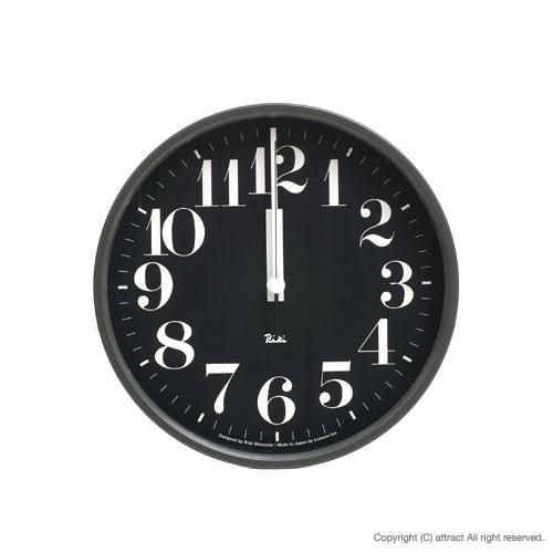 レムノス Lemnos タカタ Riki Steel Clock リキ スチールクロック 掛時計 電波時計 WR-0825 壁掛け時計 掛時計 時計 ウォールクロック カラー:ブラック デザイン:渡辺 力 インテリア デザイン 雑貨 ギフト 【RCP】【smtb-KD】