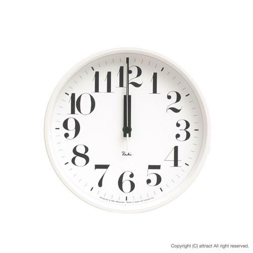 レムノス Lemnos タカタ Riki Steel Clock リキ スチールクロック 掛時計 電波時計 WR-0825 壁掛け時計 掛時計 時計 ウォールクロック カラー:ホワイト デザイン:渡辺 力 インテリア デザイン 雑貨 ギフト 【RCP】【smtb-KD】