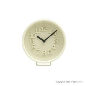 【送料無料】Lemnos/レムノス小さな時計RikiWatanabe/渡辺力アイボリー(置時計/掛時計)