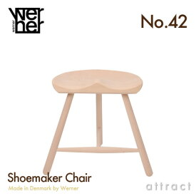 シューメーカーチェア WERNER ワーナー No.42 サイズ 42cm 420mm Made in Denmark デンマーク製 無塗装 Beech ビーチ材 Shoemaker Chair Stool 北欧・椅子・スツール・チェア・腰掛け・家具 【RCP】【smtb-KD】