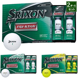 【2ダース】ダンロップ スリクソン TRI-STAR ボール 2020年モデル2ダースセット=24個入り(全3色)#SRIXON#TRISTAR#トライスター2020model