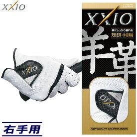 【右手用】ダンロップ ゼクシオ グローブ GGG-X012R 天然皮革 #DUNLOP#XXIO#GGGX012R#メンズゴルフ手袋