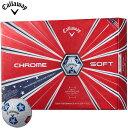 キャロウェイ CHROME SOFT ゴルフボールTRUVIS スターズ&ストライプス 19 2019年限定デザイン 1ダース/12個入り #CW/Callaway/BALL/クロムソフト/グラフェン/トゥルービス