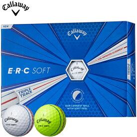 キャロウェイ ERC SOFT ゴルフボール1ダース/12個入り (全2色)#Callaway#CW#BALL#ERCソフト#グラフェン