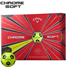 キャロウェイ CHROME SOFT TRUVIS ゴルフボールTRUVIS イエロー×ブラック1ダース/12個入り#CW/Callaway/BALL/クロムソフト/グラフェン/トゥルービス