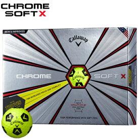 キャロウェイ CHROME SOFT X ゴルフボールTRUVIS イエロー×ブラック1ダース/12個入り#CW/Callaway/BALL/クロムソフトX/グラフェン/トゥルービス