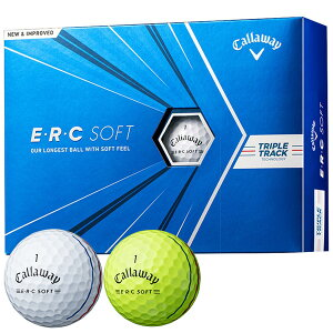 キャロウェイ E・R・C SOFT 2021 ゴルフボール 1ダース/12個入り#Callaway#CW#BALL#ERCソフト#TRIPLE_TRACK#トリプルトラック