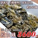 牡蠣140個前後/訳あり/ハネ/北海道/釧路町仙鳳趾/生牡蠣 8キロ