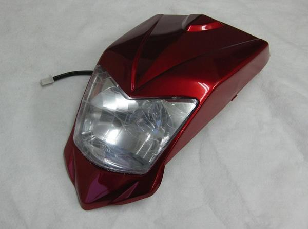 バギー用ヘッドライトカウル外装セット赤タイプ2