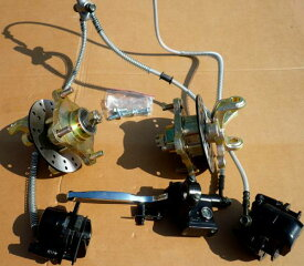 ATVバギー用前輪ダブル油圧ブレーキセットH075